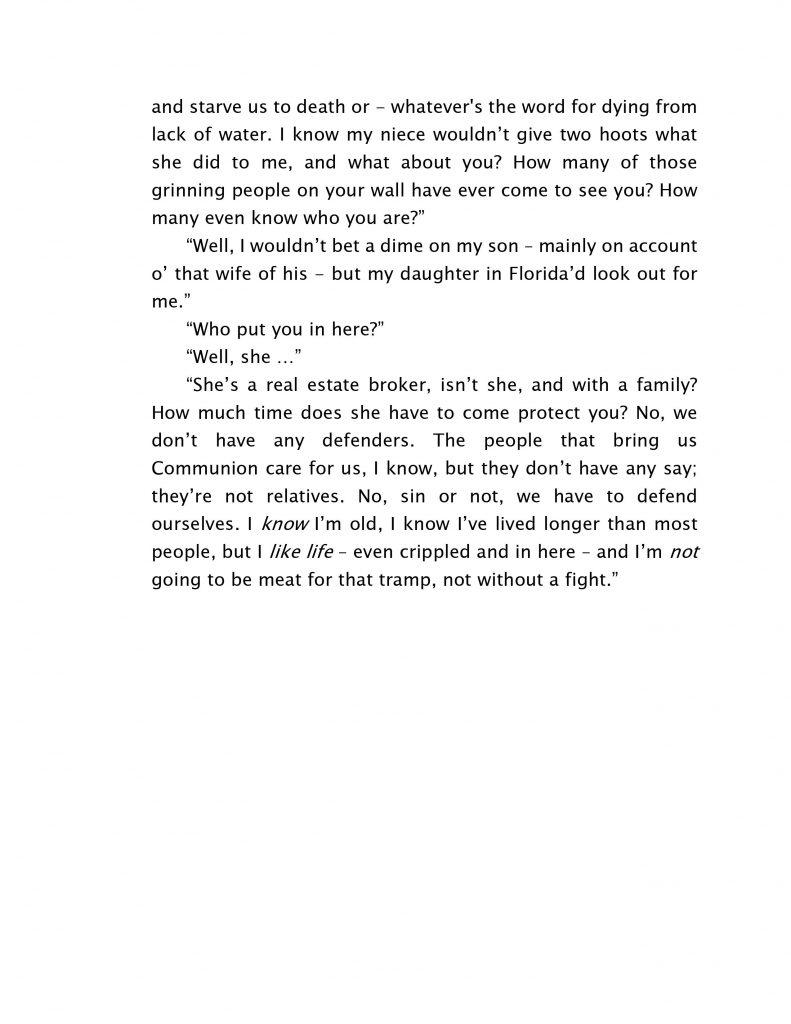 A Page from Tender Care Murders